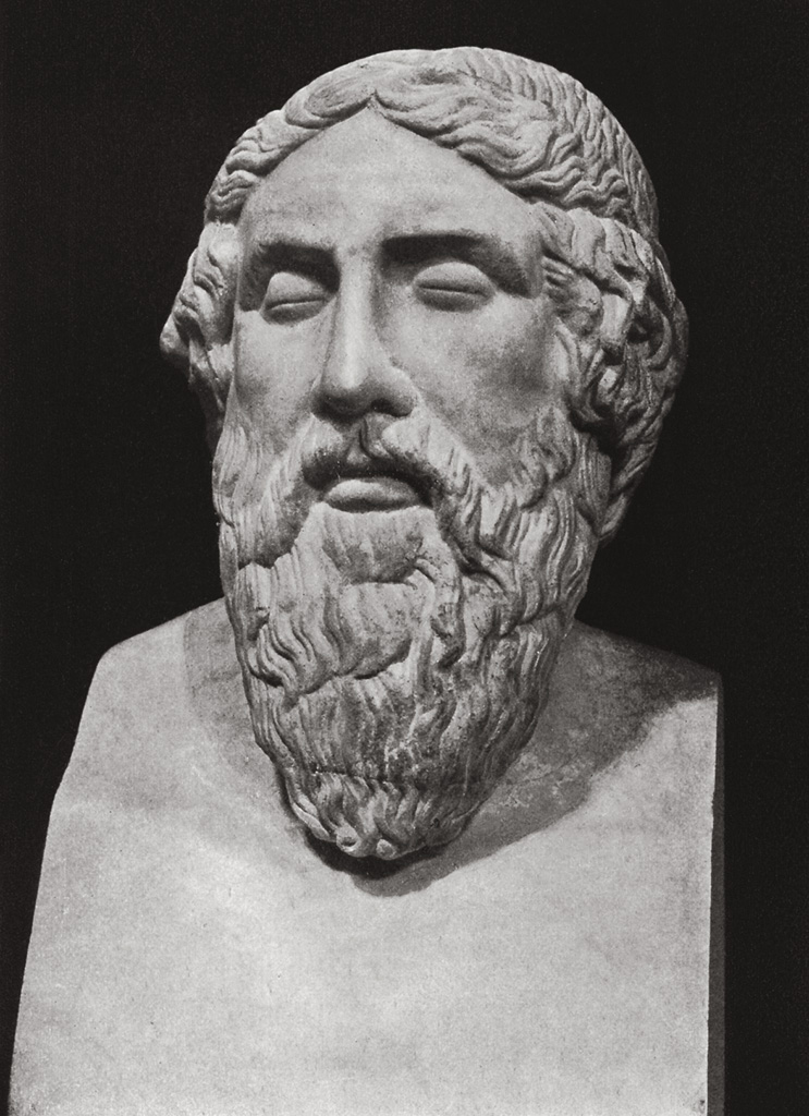 Term of Homer. Marble. Rome, Vatican Museums, Pius-Clementine Museum, Room of the Muses, 21
