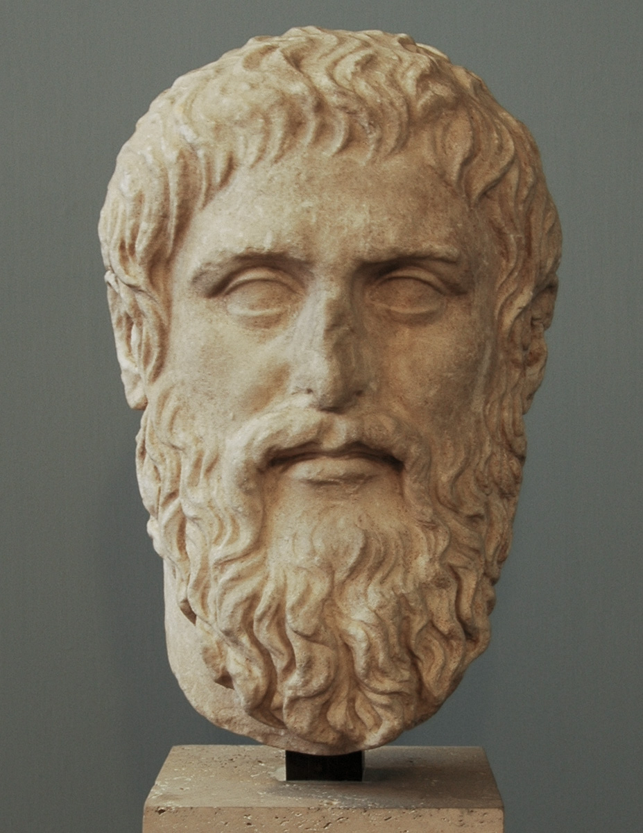 Portrait of Plato. Luni marble. Roman copy after a Greek original created by Silanion ca. 370 BCE. Inv. No. MC 1377. Rome, Capitoline Museums, Museum Montemartini (Centrale Montemartini), II. 67