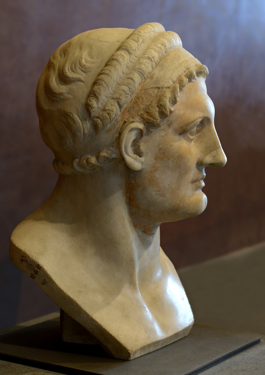 Ptolemy I Soter, king of Egypt. 3rd cent. BCE. Greece or Asia Minor. Marble. Inv. No. MR 457 / Ma 489. Paris, Louvre Museum