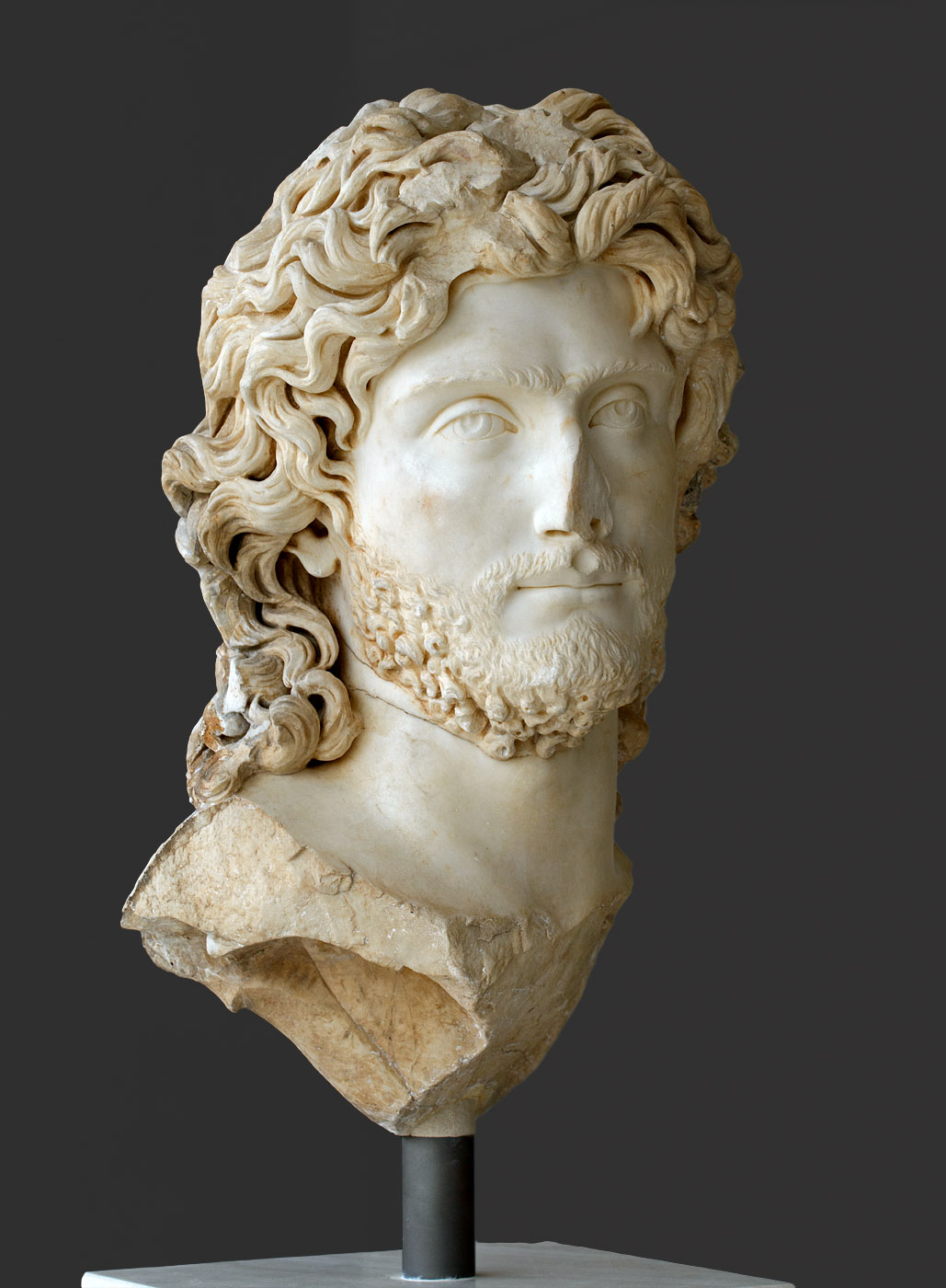 Portrait of a ruler, presumably Sauromates II, king of Kimmerian Bosphorus. Marble. Late 2nd cent. CE. Inv. No. NAM 419. Athens, New Acropolis Museum