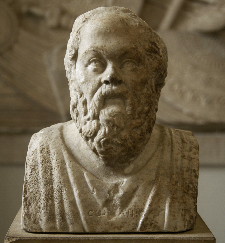 Socrates. Double herm with portraits of Socrates and roman philosopher Seneca. Marble. First half of the 3rd century. Portraits are coupled in double herm by later roman copyist. Inv. No. Sk 391 (R 106). Berlin, State Museums, Pergamon Museum