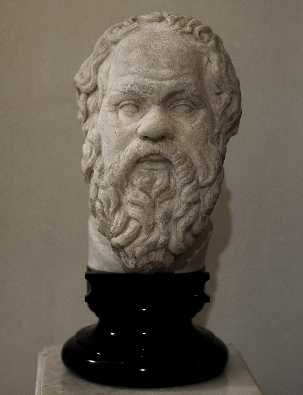 Socrates. Marble. Roman work of the II cent. CE after a Greek original of the third quarter of the 4th cent. BCE by Lysippos. Inv. No. Гр. 4195 (A. 402 a). Saint Petersburg, The State Hermitage Museum