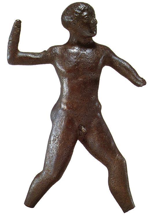 Javelin thrower. Bronze. Mid-5th century BCE. Northern Peloponnesian (Olympia?).  Private collection, Geneva