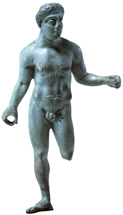 An athlete. Bronze. Second half of the 5th century BCE. Thessalian.  Private collection, Geneva