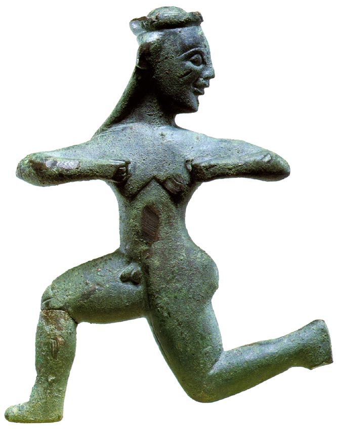 An runner. Bronze. Thessalian. Last quarter of the 6th century BCE.  Private collection, Geneva