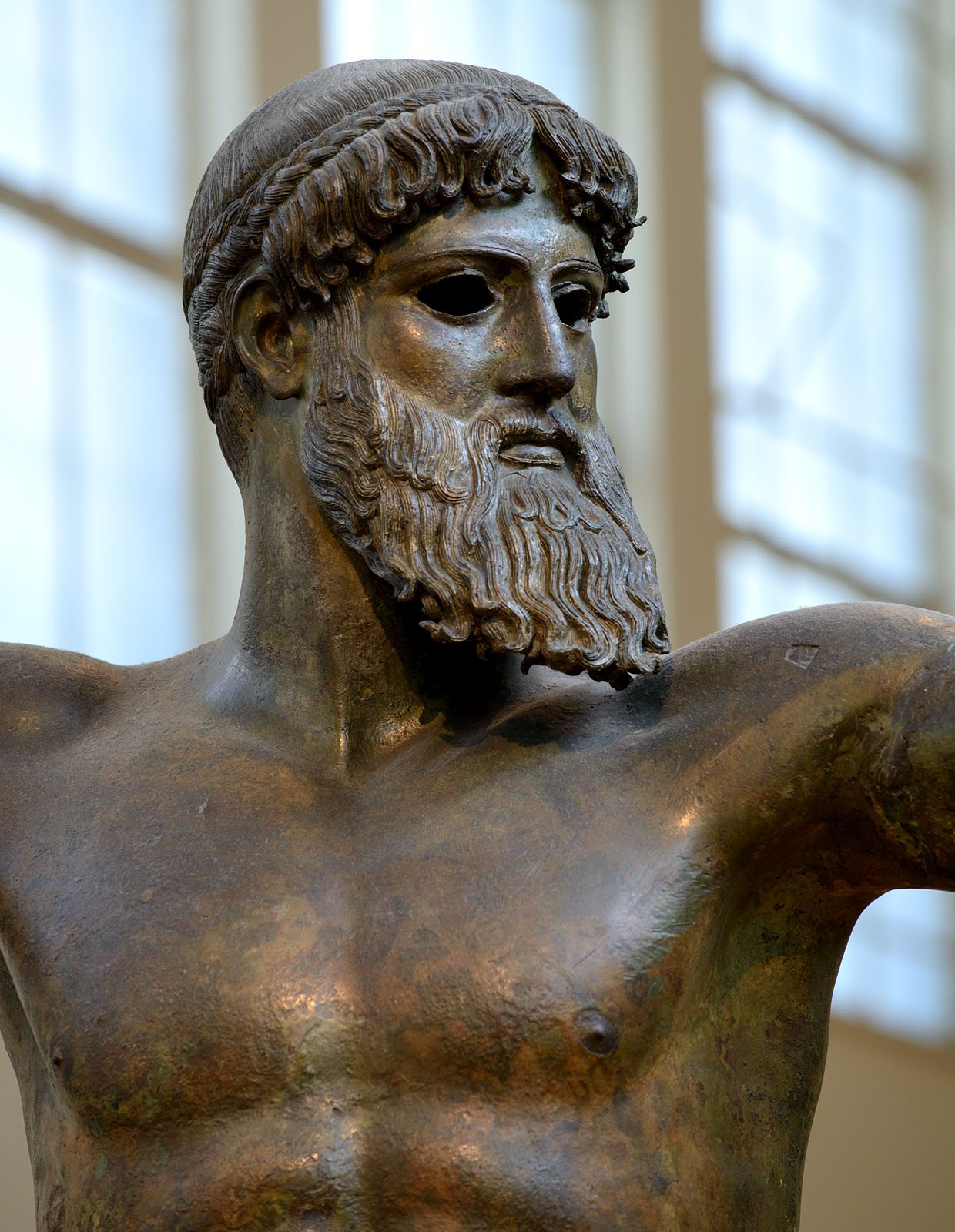 Bronze statue of Zeus or Poseidon. Bronze. Ca. 460 BCE. Inv. No. X 15161. Athens, National Archaeological Museum