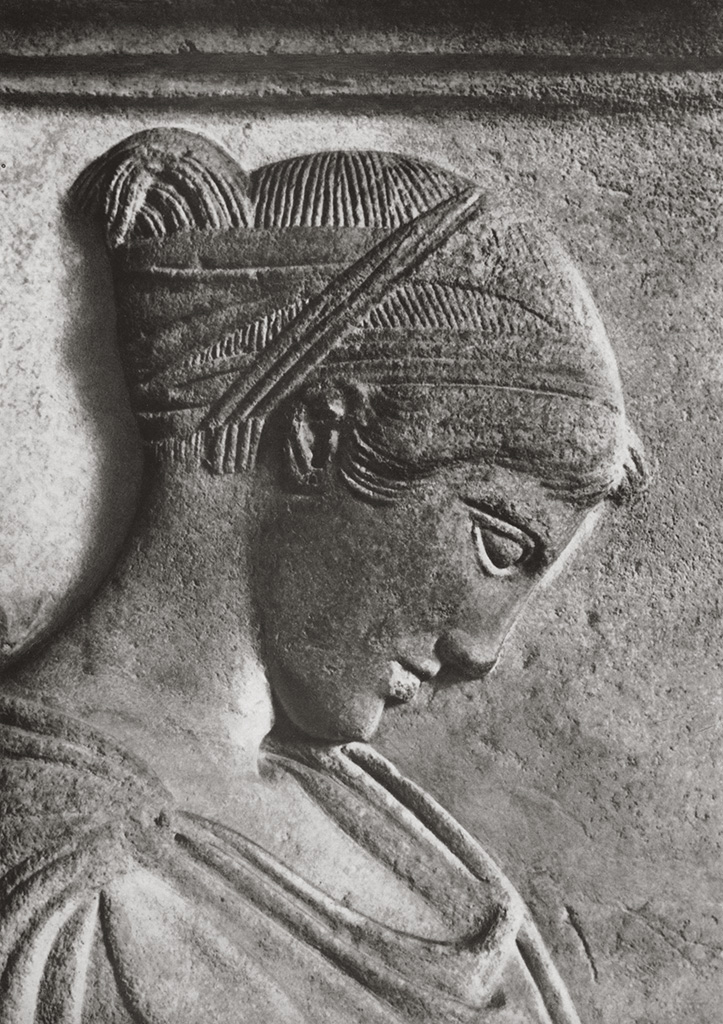 Funeral stele of a girl. Detail. Marble. Mid-5th century BCE. Berlin, State Museums