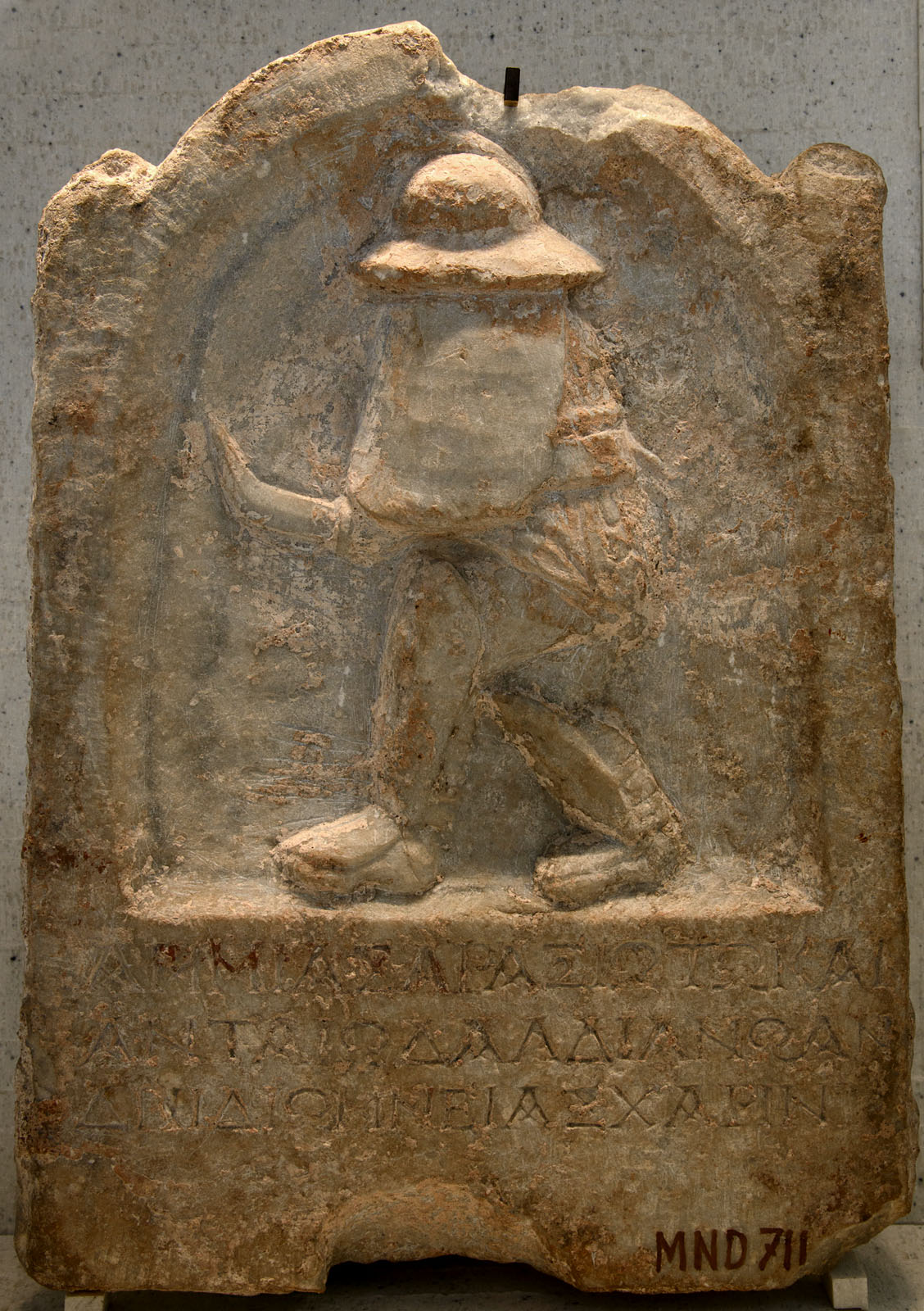 Grave stele of a thracian gladiator. Grey marble. 3rd century CE. Inv. No. Ma 4492 (MND 711). Paris, Louvre Museum
