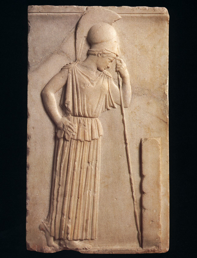 The Contemplative Athene. Marble. 470—460 BCE.  Inv. No. 695. Athens, New Acropolis Museum