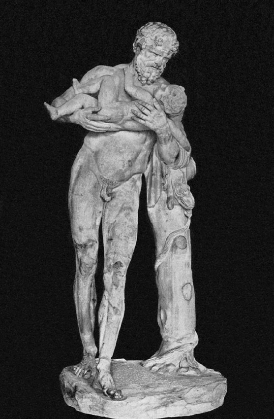 Silenus with the Infant Dionysos. Paris, Louvre Museum Hermes Statue