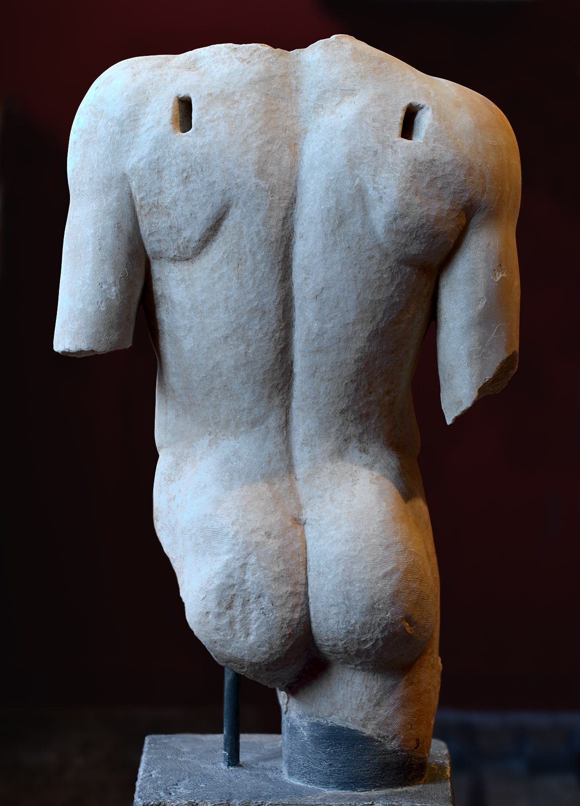 """Eros (type """"Soranzo""""). Marble. Greek copy of the 2nd cent. CE after a Greek statue attributed to Pheidias. Inv. No. 94. Sparta, Archaeological Museum"""