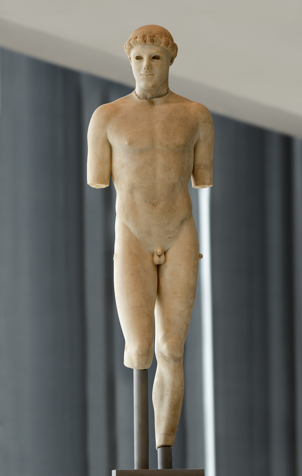 "Nude ephebe (so-called ""Kritios Boy""). Marble. After 480 BCE. Inv. No. Acr. 698. Athens, New Acropolis Museum"
