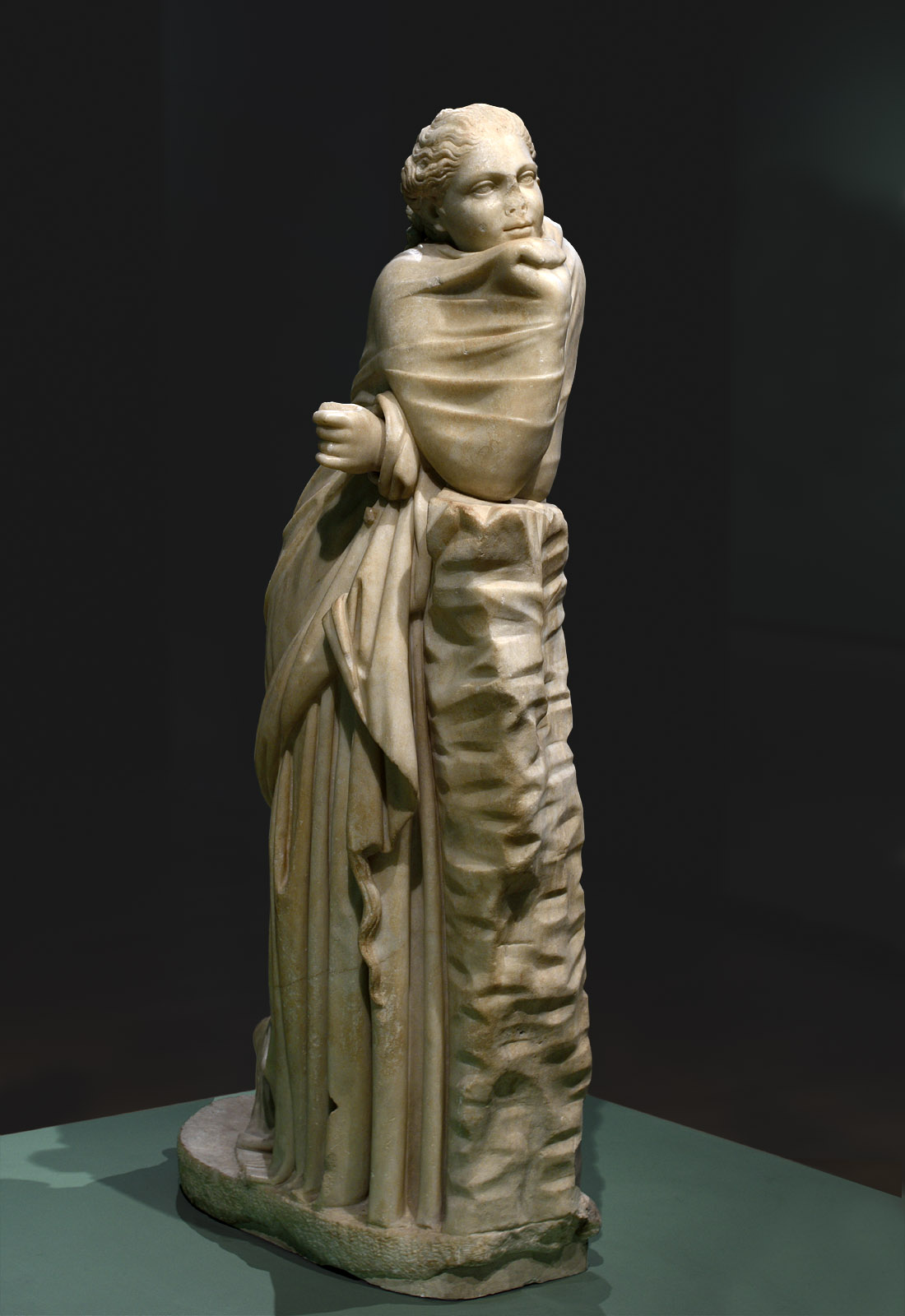 Statue of a Muse (Polyhymnia?). Parian marble. 2nd cent. BCE. Inv. No. 2135. Rome, Capitoline Museums, Museum Montemartini (Centrale Montemartini), III. 17