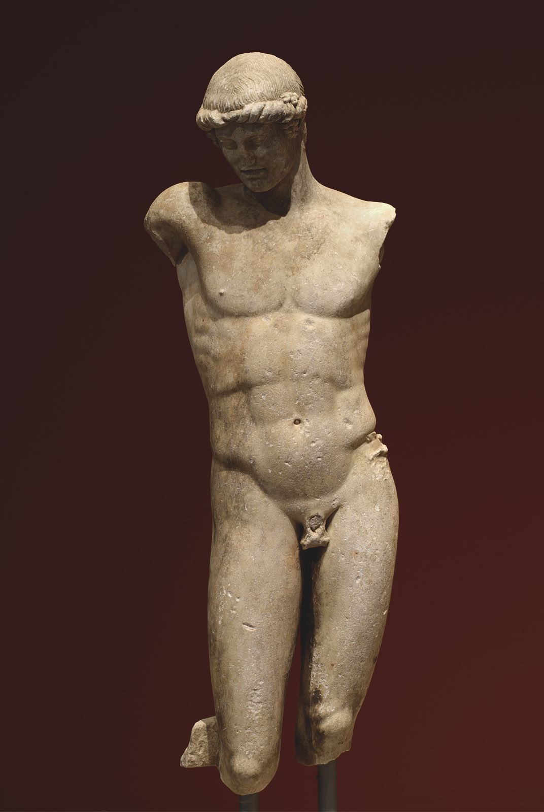 Statue of a young man (Apollo?). Marble. Roman copy after a Greek original (middle of 1st cent. BCE). Patras, New Archaeological Museum