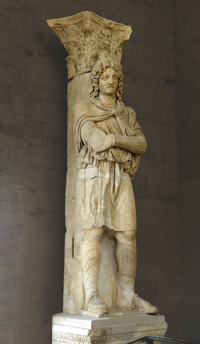 Colossal statue of a Phrygian captive (one of the two). Marble. Second half of the 2nd cent. — early 3rd cent. CE. Inv. No. S-179. Corinth, Archaeological Museum of Ancient Corinth