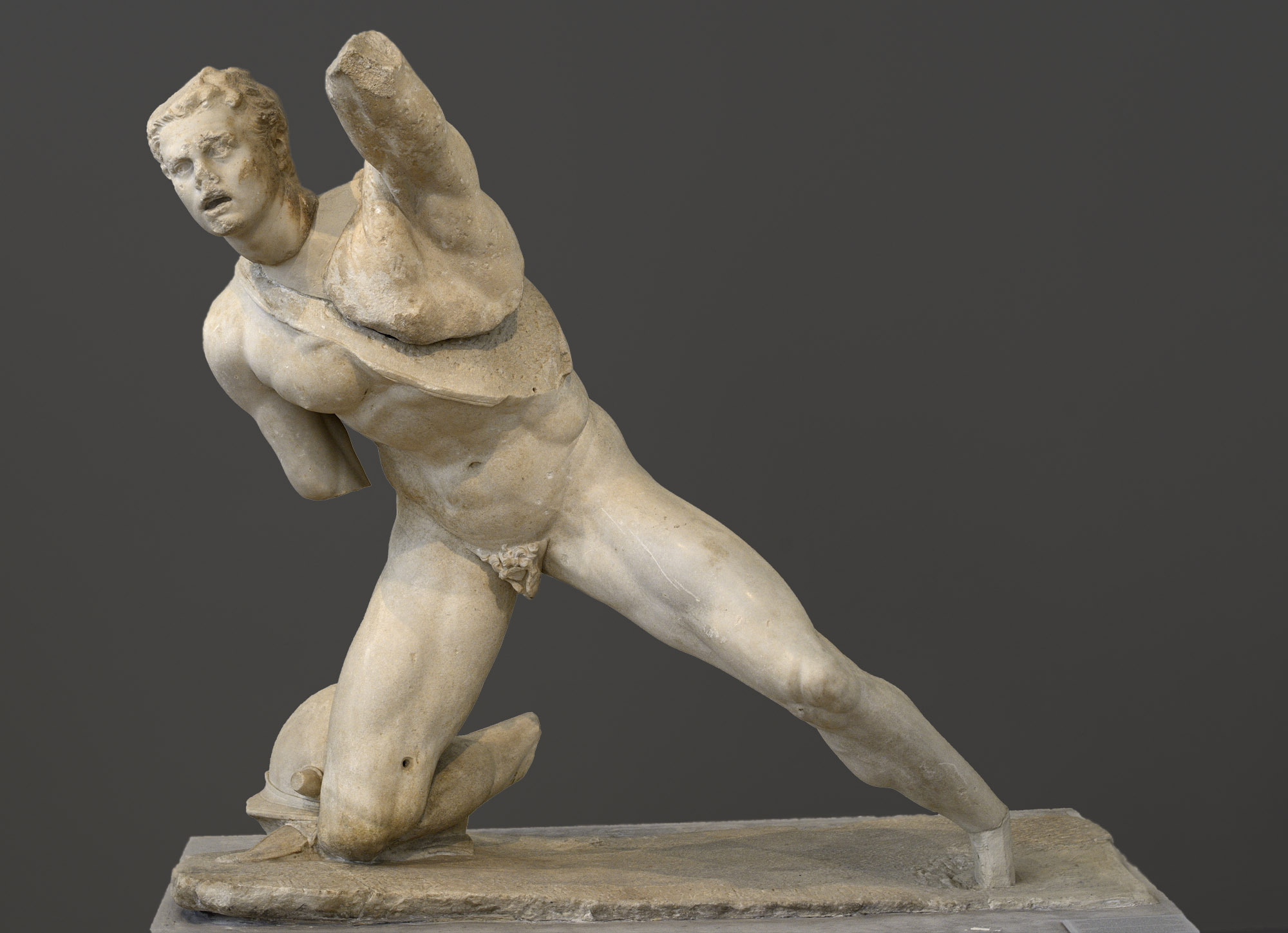 Fighting Gaul. Parian marble. Ca. 100 BCE. Inv. No. 247. Athens, National Archaeological Museum
