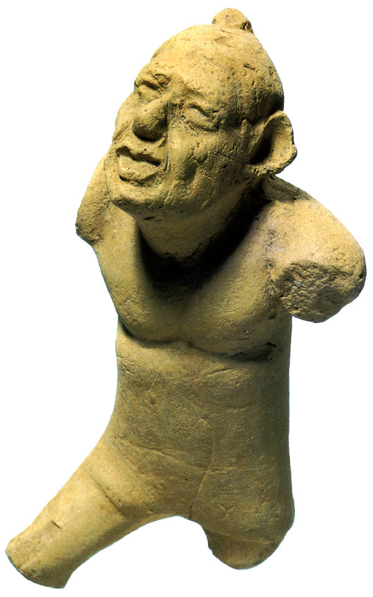 Wrestler. Terracotta. Ca. 1st century CE. Height 6.8 cm. Private collection, Amsterdam