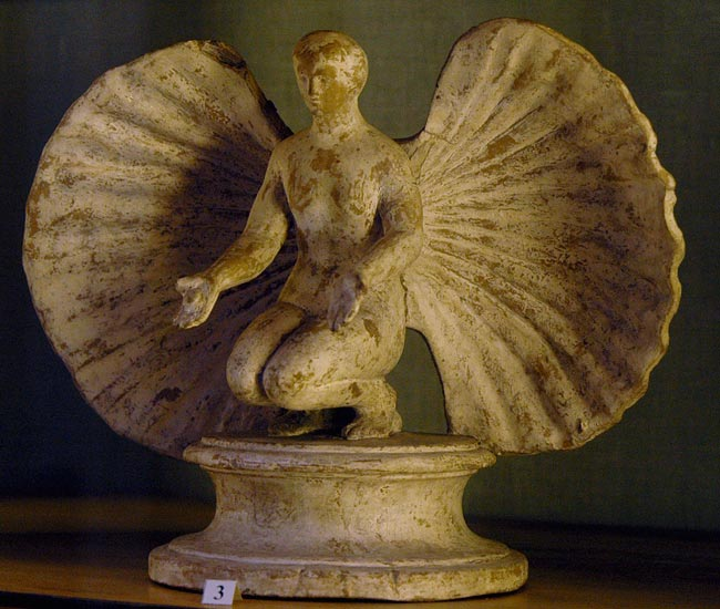 Aphrodite in the shell. Clay. 3rd—2nd centuries BCE. Inv. No. Г. 167. Saint Petersburg, The State Hermitage Museum