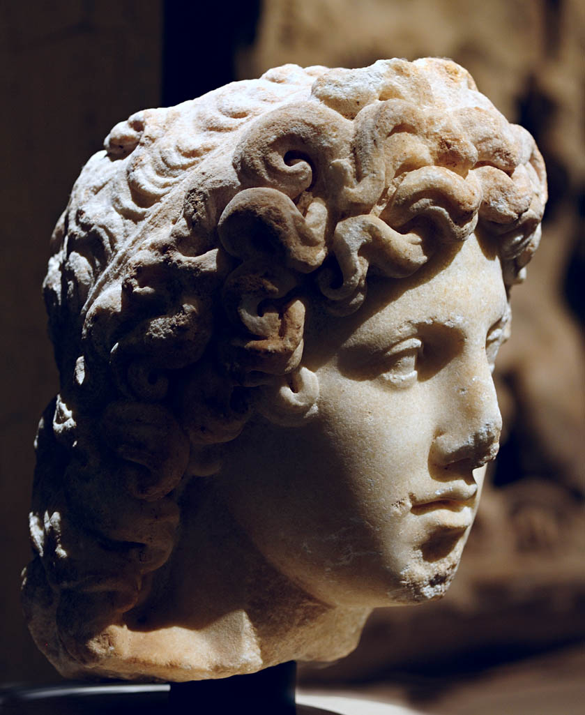 Head of Apollo. Marble. Rome. 2nd cent. CE. Inv. No. I 383. Vienna, Museum of Art History