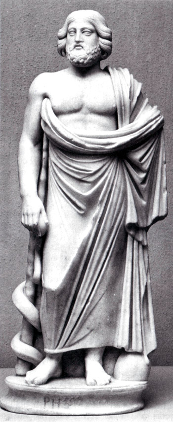 Asclepius. Marble. Late 2nd — early 3rd centuries CE. Cyprus. Paphos, District Archaeological Museum