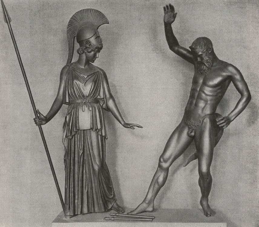 """Athena and Marsyas."" Reconstruction."