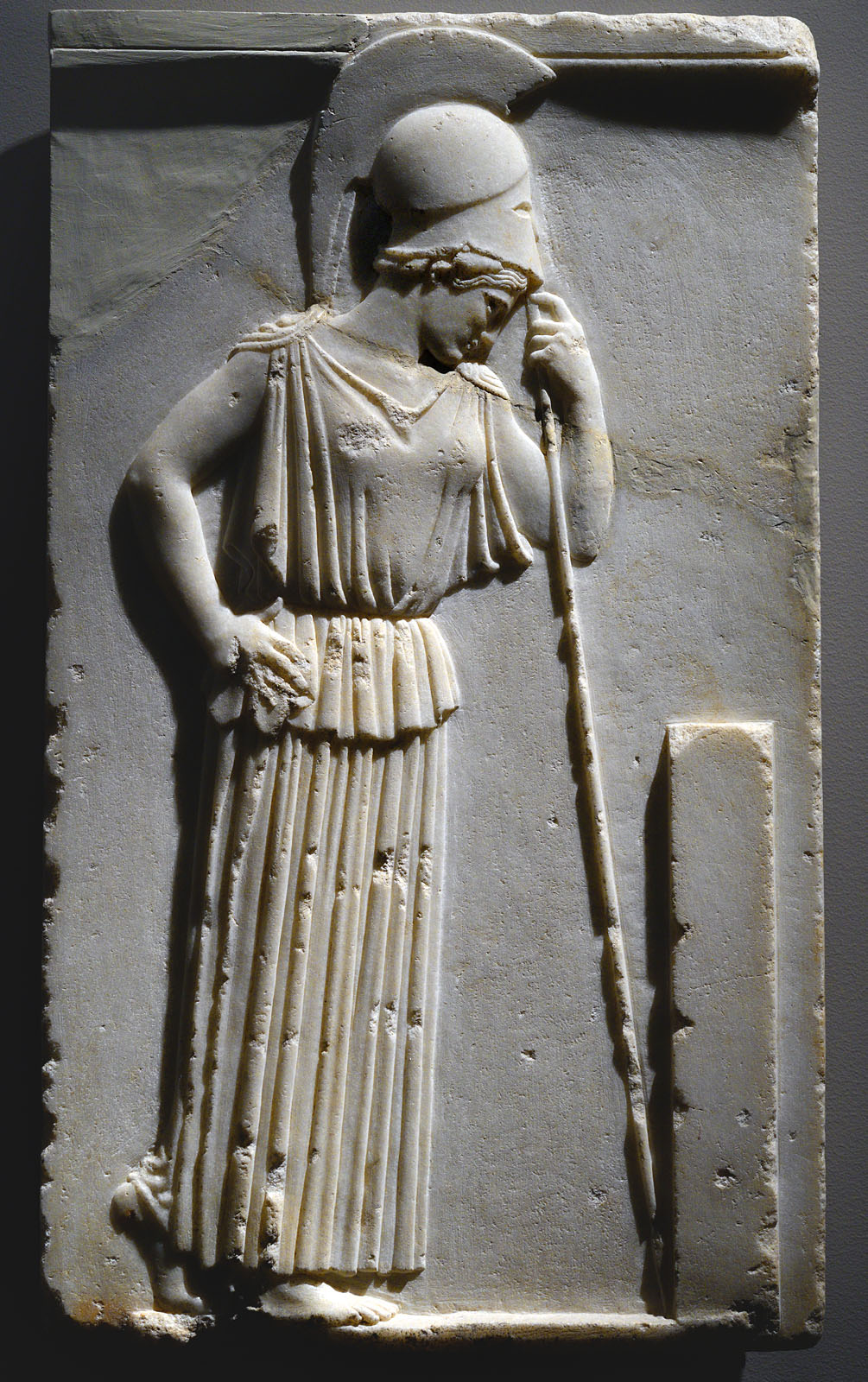 The Mourning Athene. Parian marble. 470—460 BCE. Inv. No. 695. Athens, New Acropolis Museum
