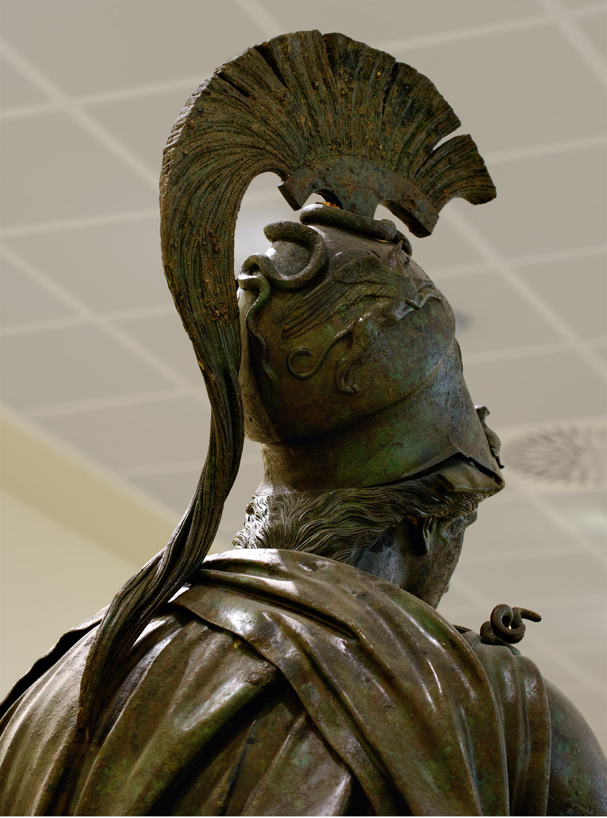 "Statue of Athene (""The Peiraeus Athena""). Bronze. 340—330 BCE. Inv. No. 4646. Athens, Archaeological Museum of Piraeus"