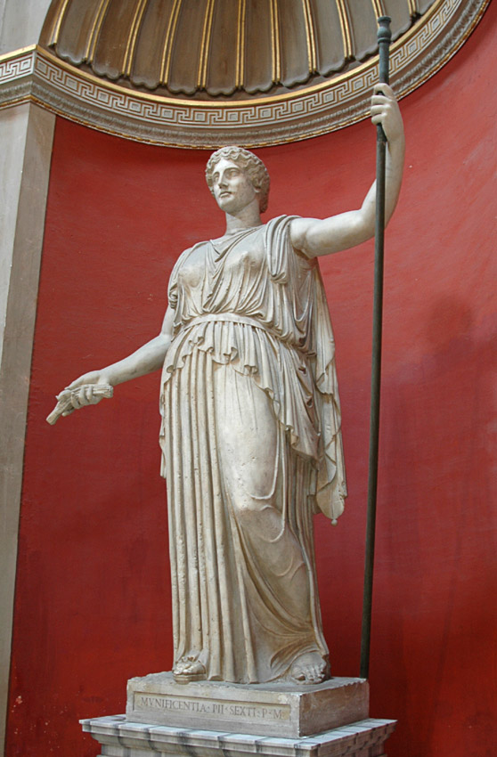 Statue of Demeter. Marble. Roman copy of a Greek work of about 420 BCE (school of Phidias) Inv. No. 254. Rome, Vatican Museums, Pius-Clementine Museum, Round Room, 6