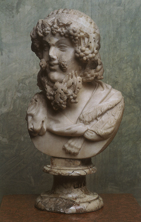 Dionysos. Marble. Mid-1st century. Height 44 cm. Inv. No. A. 103. Saint Petersburg, The State Hermitage Museum