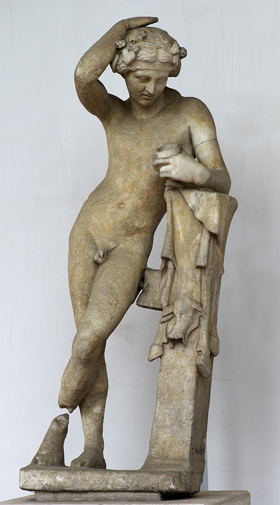Drunken Dionysos. White marble. 1st cent. CE. (Claudian Age). Inv. No. 74026. Rome, Roman National Museum, Baths of Diocletian