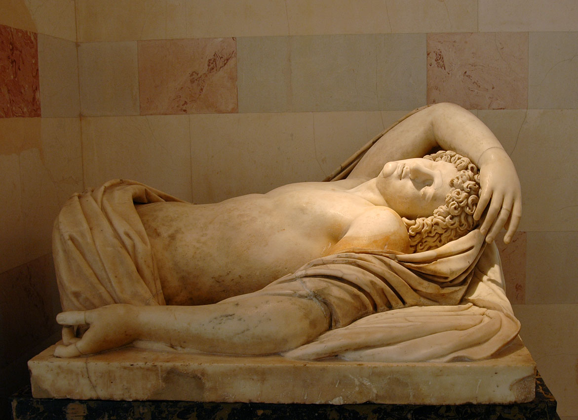 Sleeping Endymion. Fragment of the group of Selene and Endymion. Marble. Roman, after a Greek original of the 2nd century BCE. Inv. No. A 23. Saint Petersburg, The State Hermitage Museum