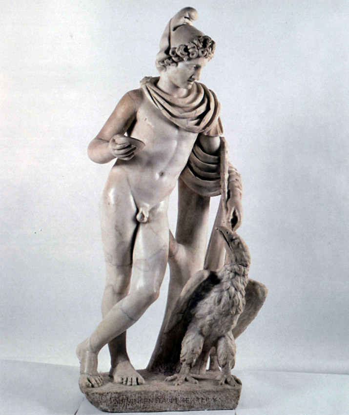 Ganymede and the eagle. Marble. 2nd century CE. Inv. No. 1376. Rome, Vatican Museums, Chiaramonti Museum, XIII. 4