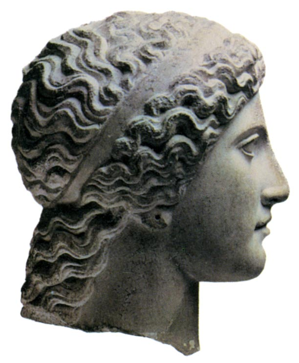 Head of Hera. Marble. 420 BCE. Athens, National Archaeological Museum