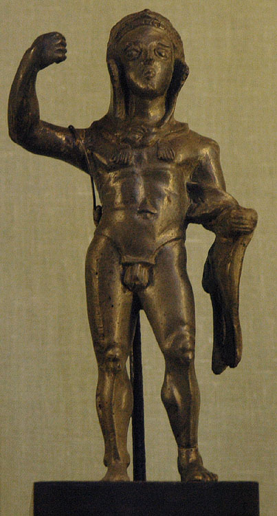 Heracles. Bronze. 4th century BCE. Inv. No. В. 1887. Saint Petersburg, The State Hermitage Museum