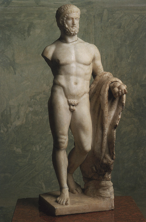 Heracles. Marble. 1st century BCE. Height 56 cm. Inv. No. A 176. Saint Petersburg, The State Hermitage Museum