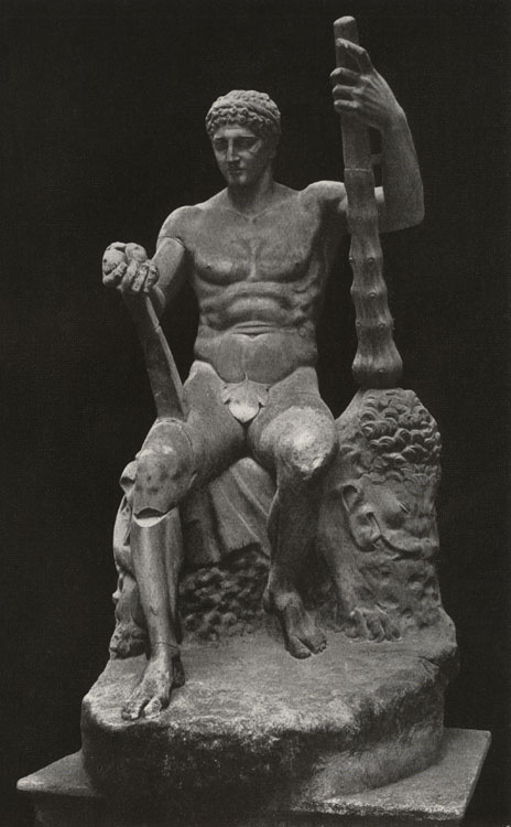 Figure of seated Heracles. Marble. Rome, Roman National Museum, Palazzo Altemps