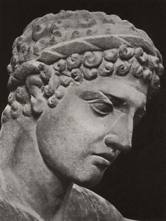 Head of the colossal statue of Heracles. Marble. Rome, Roman National Museum, Palazzo Altemps