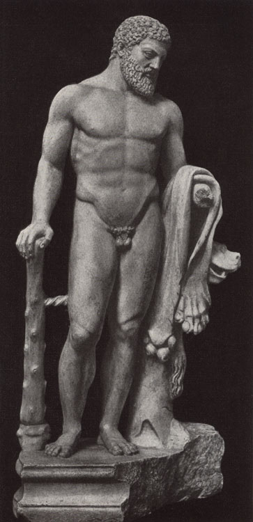 Statuette of Heracles (by cast).  Private collection, England