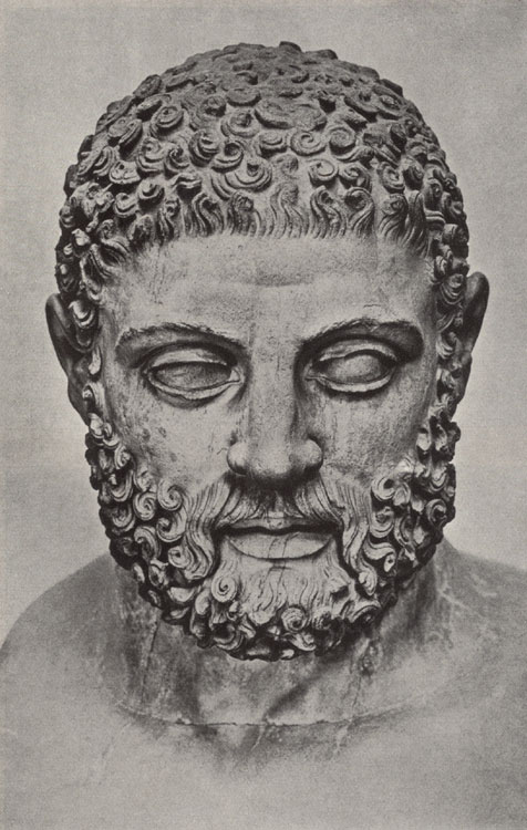 Head of Heracles. Marble. London, The British Museum