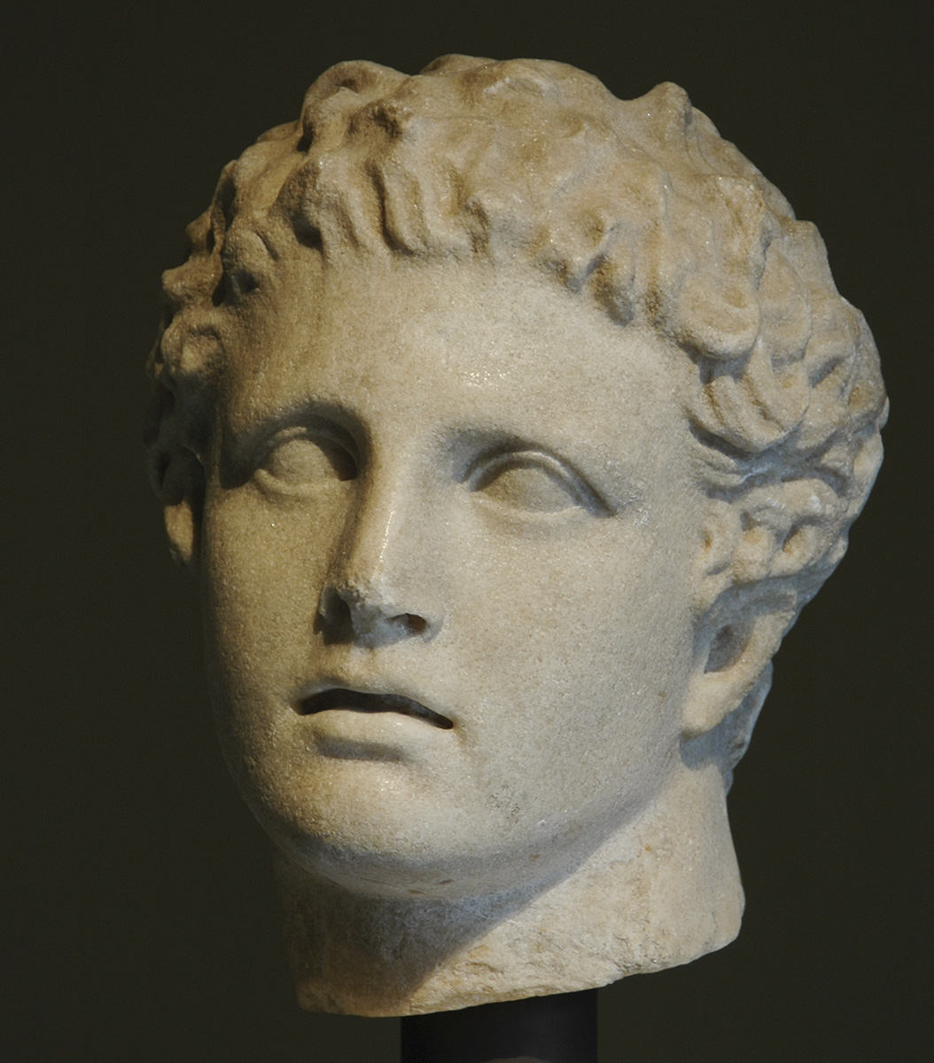 Head of Meleager. Marble. Roman copy after a Greek original ca. 340—330 BCE.  Inv. No. I 1283. Vienna, Museum of Art History, Collection of Classical Antiquities