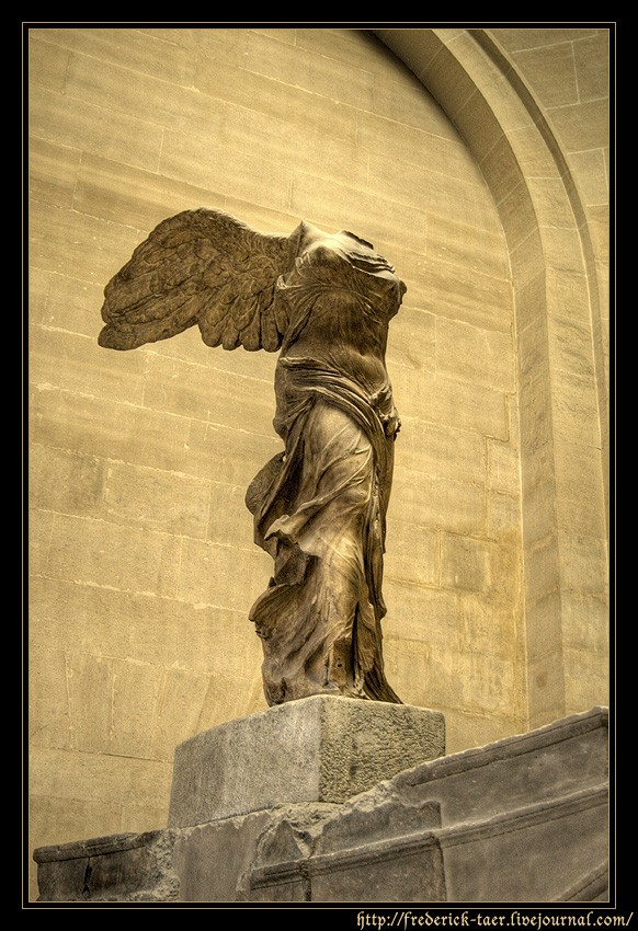 The Winged Nike of Samothrace. Marble. Ca. 190 BCE.  Inv. No. Ma 2369. Paris, Louvre Museum