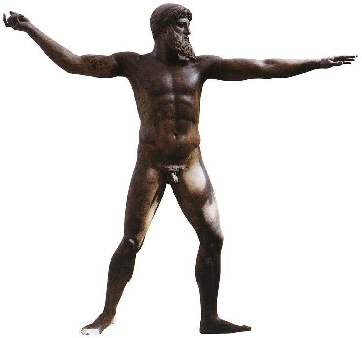 Statue of Poseidon. Bronze. 5th century BCE. Athens, National Archaeological Museum
