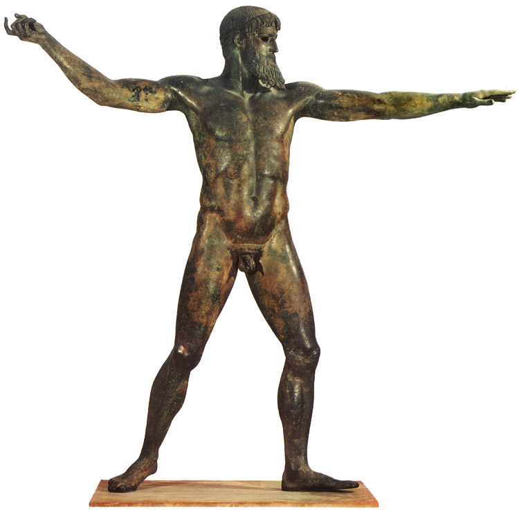 Statue of Poseidon. Bronze. 460 BCE. Athens, National Archaeological Museum