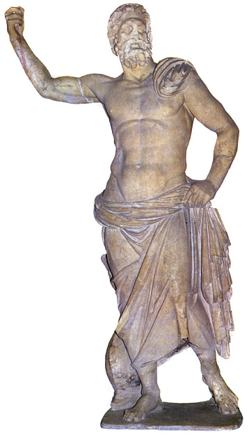 Statue of Poseidon. Marble. 130 BCE. Athens, National Archaeological Museum