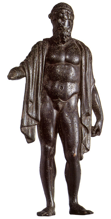Statuette of Poseidon. Bronze. 470 BCE. Height 15 cm. Inv. No. Б. 286. Saint Petersburg, The State Hermitage Museum