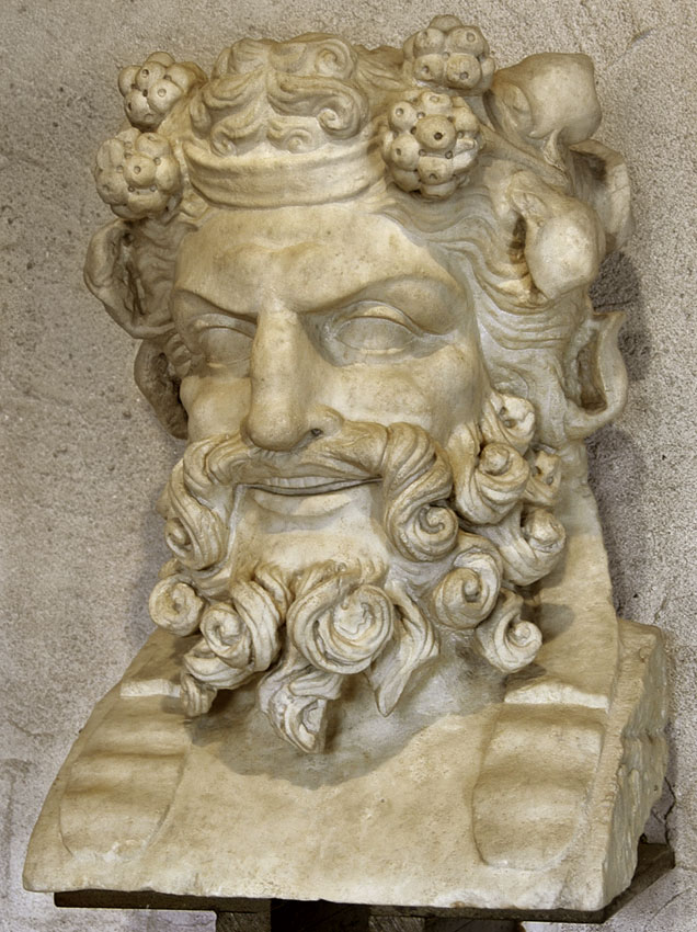 Old satyr. Decorative herm of the Roman theatre. Marble. 2nd century CE. Verona, Archaeological Museum