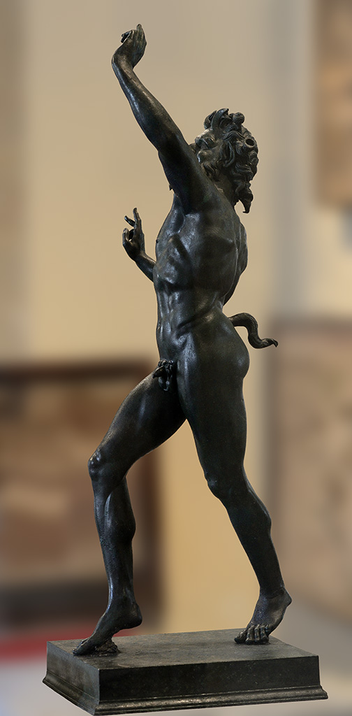 Dancing faun. Bronze. 2nd century BCE.  Inv. No. 5002. Naples, National Archaeological Museum