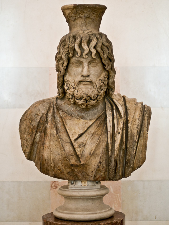 Serapis. Marble. Roman, after a Greek original of early 3rd century BCE. Inv. No. A. 99. Saint Petersburg, The State Hermitage Museum