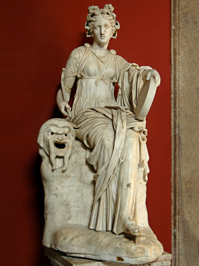 Statue of Thalia. Marble. Roman work of the 2nd century. Inv. No. 295. Rome, Vatican Museums, Pius-Clementine Museum, Room of the Muses, 59
