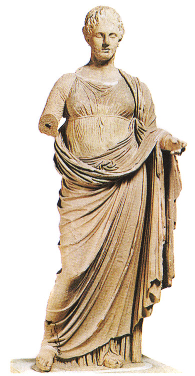 Statue of Themis from Ramnus. Marble. 3rd century BCE. Athens, National Archaeological Museum